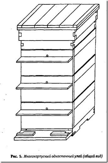Этот улей по схеме изготовления очень похож на одностенный двухкорпусной.  Сам корпус...  На рисунке 6 вы можете...